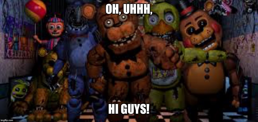 image tagged in all animatronics in office fnaf balloon boy fnaf