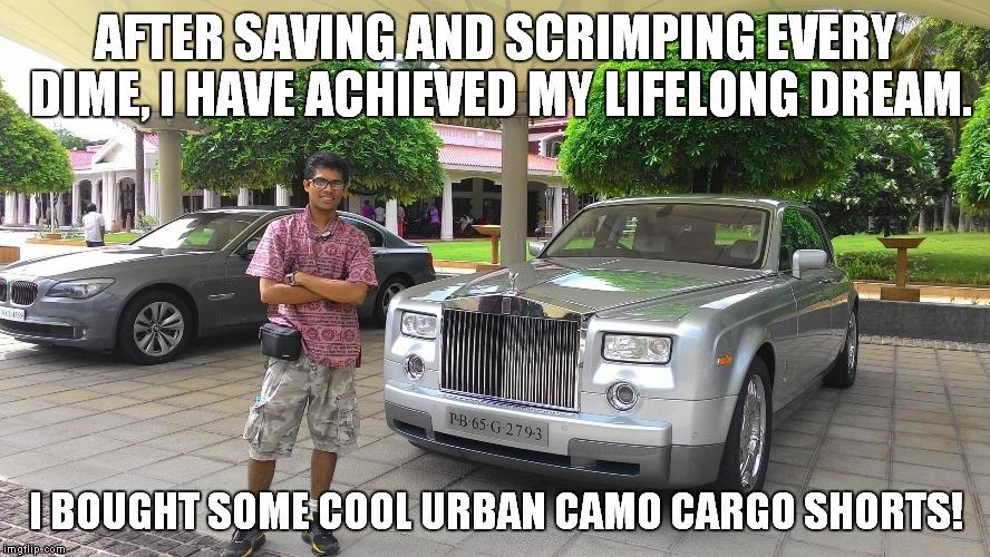 yn3aa dreams can come true imgflip,Cargo Shorts Meme
