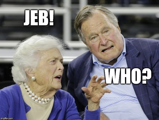 Poor Jeb Hes Slipping From Consciousness Everywhere Imgflip
