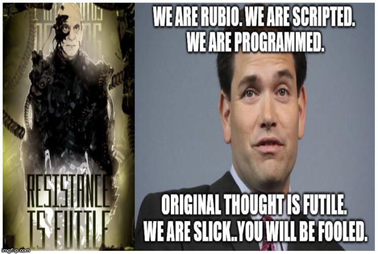 ys7dy marco rubio republicans rubio debate new american century robot,Marco Rubio Memes