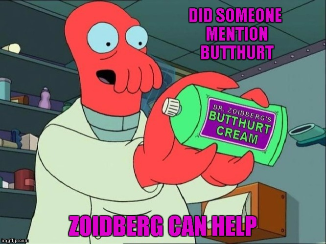 DID SOMEONE MENTION BUTTHURT ZOIDBERG CAN HELP | made w/ Imgflip meme maker