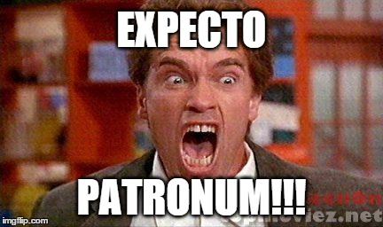 When you can't take all the bullshit anymore | EXPECTO PATRONUM!!! | image tagged in arnold,kindergarten,reaction,bullshit,scream,rage | made w/ Imgflip meme maker