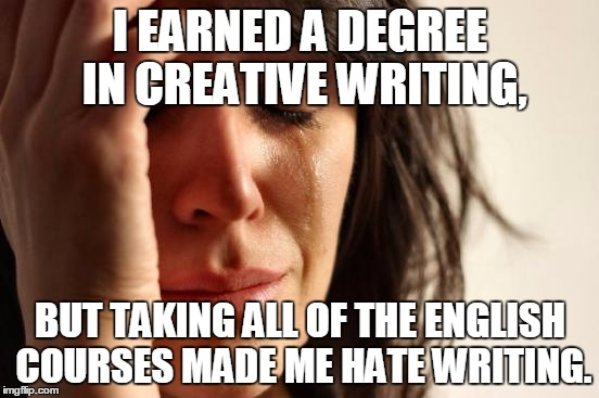 what to do with a bachelors degree in creative writing You love words, so you've decided to follow your heart and take on that liberal arts degree, but you're having trouble deciding between a major in english and one.