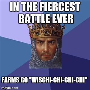 "Especially frustrating back in the original version |  IN THE FIERCEST BATTLE EVER; FARMS GO ""WISCHI-CHI-CHI-CHI"" 