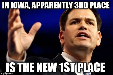MARK RUBY  | IN IOWA, APPARENTLY 3RD PLACE IS THE NEW 1ST PLACE | image tagged in mark ruby,new hampshire,president 2016,republican | made w/ Imgflip meme maker