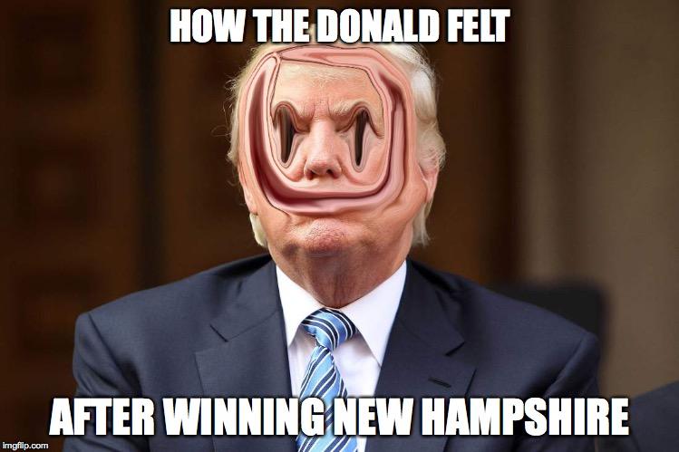Demented Donald Trump | HOW THE DONALD FELT AFTER WINNING NEW ...