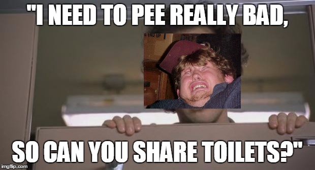 "Rob Schnieder Bathroom | ""I NEED TO PEE REALLY BAD, SO CAN YOU SHARE TOILETS?"" 