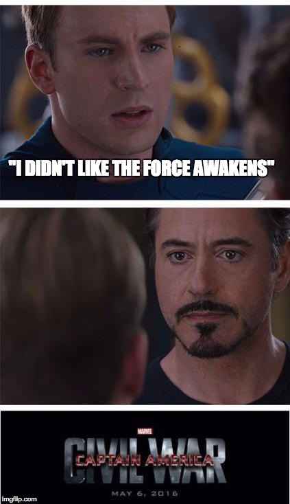 "i lOve comic sans | ""I DIDN'T LIKE THE FORCE AWAKENS"" 