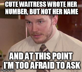 How to ask a waitress for her number
