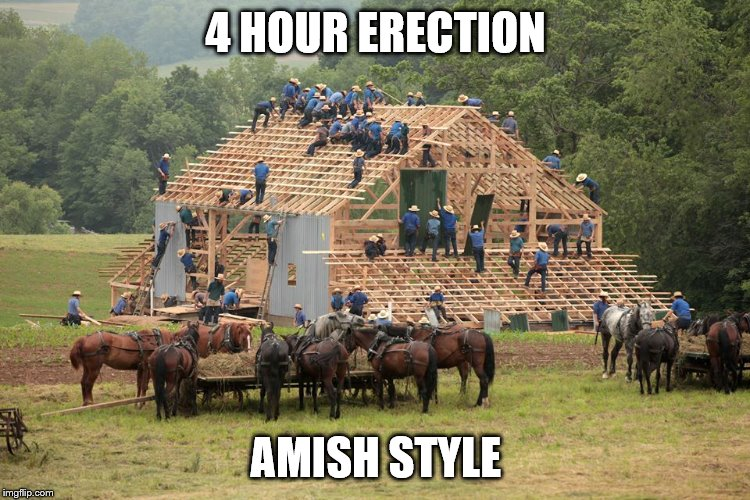 4 HOUR ERECTION AMISH STYLE | made w/ Imgflip meme maker