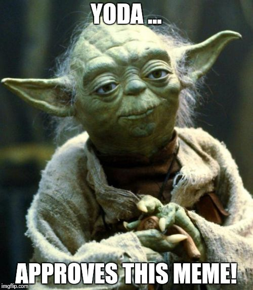 Star Wars Yoda Meme | YODA ... APPROVES THIS MEME! | image tagged in memes,star wars yoda | made w/ Imgflip meme maker