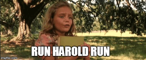 RUN HAROLD RUN | made w/ Imgflip meme maker