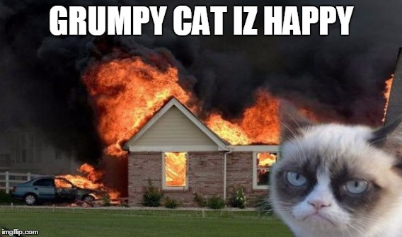 respect the cat otherwise this will happen | GRUMPY CAT IZ HAPPY | image tagged in grumpy cat,funny memes | made w/ Imgflip meme maker