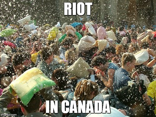 Canadians are so nice, even their riots are civilized. - Imgflip