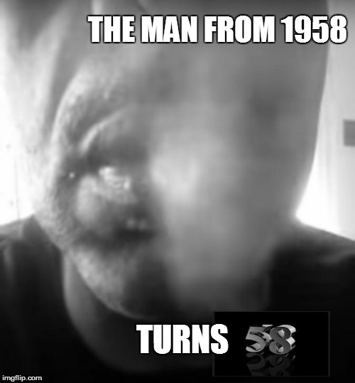 Chris | THE MAN FROM 1958 TURNS | image tagged in smoking,cigar,birthday,58 | made w/ Imgflip meme maker