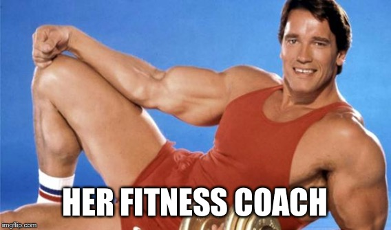 HER FITNESS COACH | made w/ Imgflip meme maker
