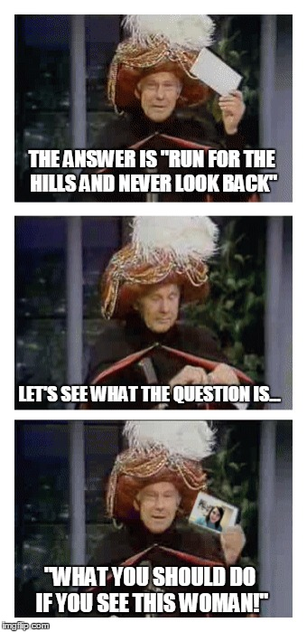 "Johnny Carson as ""Carnac the Magnificent"" 