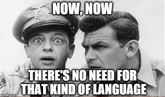NOW, NOW THERE'S NO NEED FOR THAT KIND OF LANGUAGE | made w/ Imgflip meme maker