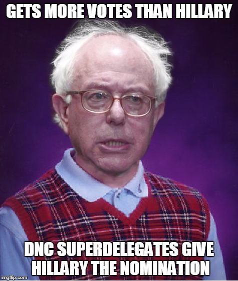 "In the end, Sanders voters are going to get ""Berned"" by the DNC. 