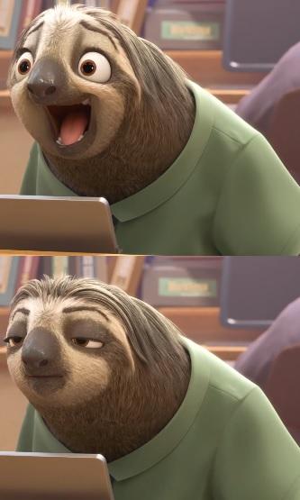 sloth mask template - sloth zootopia zootopia sloth animated gif speakgif