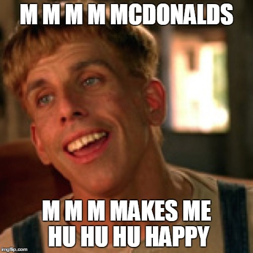 M M M M MCDONALDS M M M MAKES ME HU HU HU HAPPY | image tagged in simple jack | made w/ Imgflip meme maker