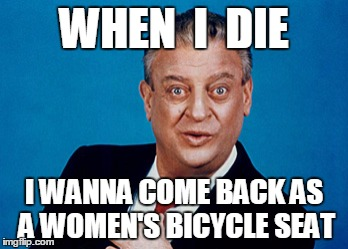 Rodney | WHEN  I  DIE I WANNA COME BACK AS A WOMEN'S BICYCLE SEAT | image tagged in rodney | made w/ Imgflip meme maker
