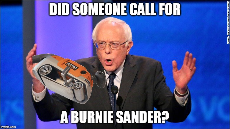 DID SOMEONE CALL FOR A BURNIE SANDER? | made w/ Imgflip meme maker