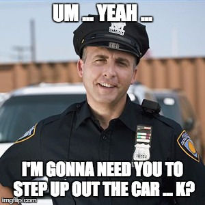 UM ... YEAH ... I'M GONNA NEED YOU TO STEP UP OUT THE CAR ... K? | made w/ Imgflip meme maker