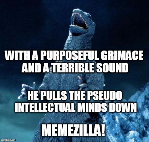 Intellectual Meme: Laughing Godzilla
