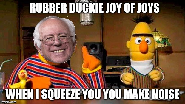 RUBBER DUCKIE JOY OF JOYS WHEN I SQUEEZE YOU YOU MAKE NOISE | made w/ Imgflip meme maker