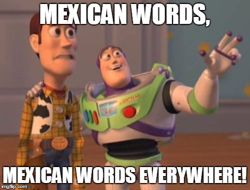 X, X Everywhere Meme | MEXICAN WORDS, MEXICAN WORDS EVERYWHERE! | image tagged in memes,x,x everywhere,x x everywhere | made w/ Imgflip meme maker