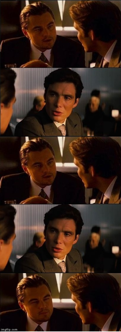 Inception - double Blank Meme Template