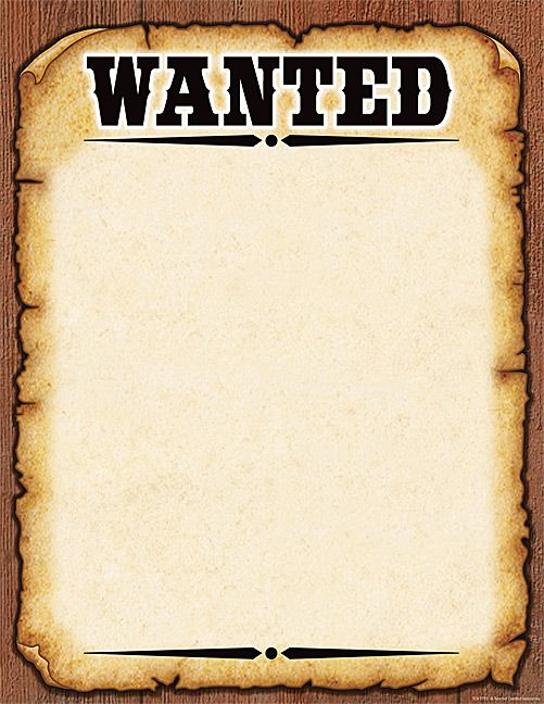 Nice High Quality Wanted Poster Blank Meme Template