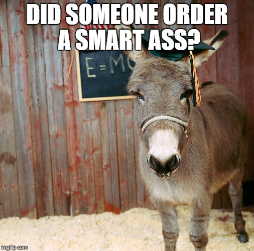 DID SOMEONE ORDER A SMART ASS? | made w/ Imgflip meme maker