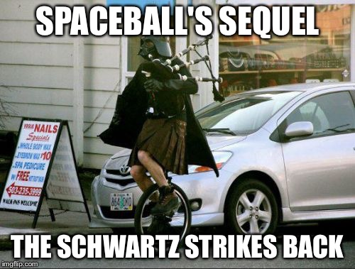 Invalid Argument Vader | SPACEBALL'S SEQUEL THE SCHWARTZ STRIKES BACK | image tagged in memes,invalid argument vader | made w/ Imgflip meme maker