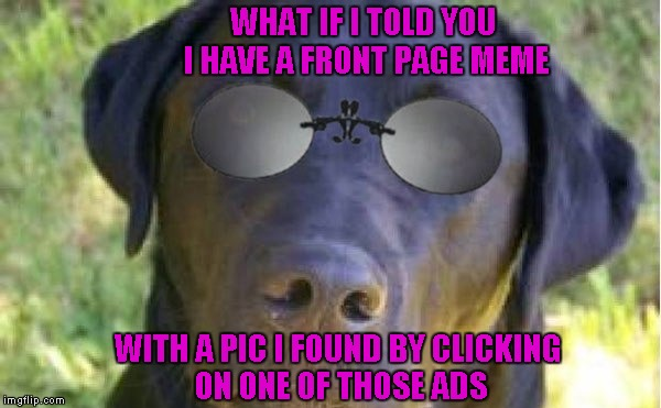 WHAT IF I TOLD YOU I HAVE A FRONT PAGE MEME WITH A PIC I FOUND BY CLICKING ON ONE OF THOSE ADS | made w/ Imgflip meme maker