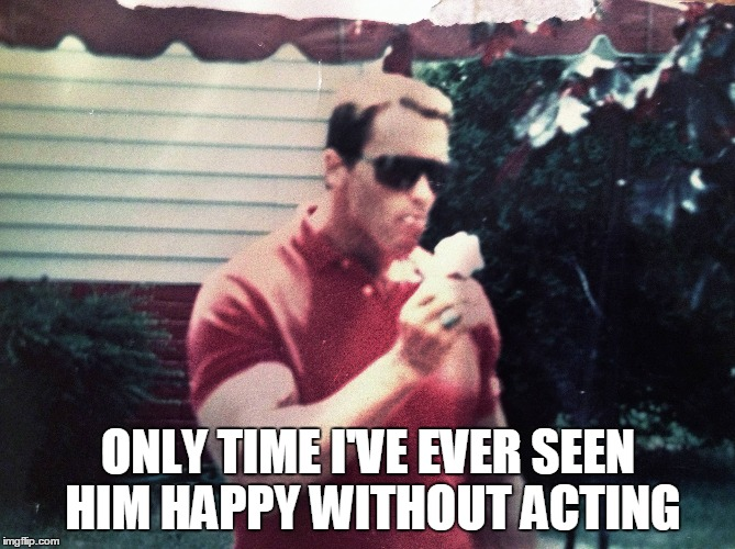 Arnold likes ice cream | ONLY TIME I'VE EVER SEEN HIM HAPPY WITHOUT ACTING | image tagged in funny,memes,arnold schwarzenegger,ice cream,yum | made w/ Imgflip meme maker