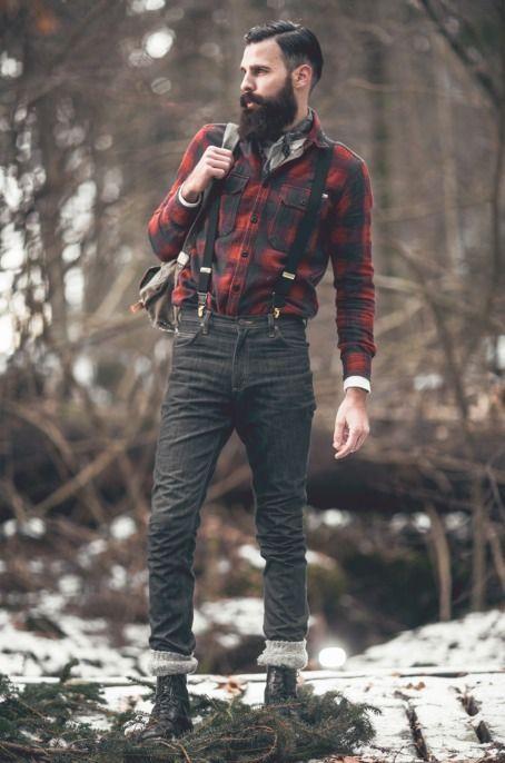 Lumberjack Shirt Men Look