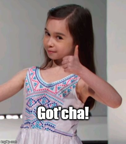 Elliot Got'cha | Got'cha! | image tagged in got'cha,elliot,cute girl,payback,i got this | made w/ Imgflip meme maker