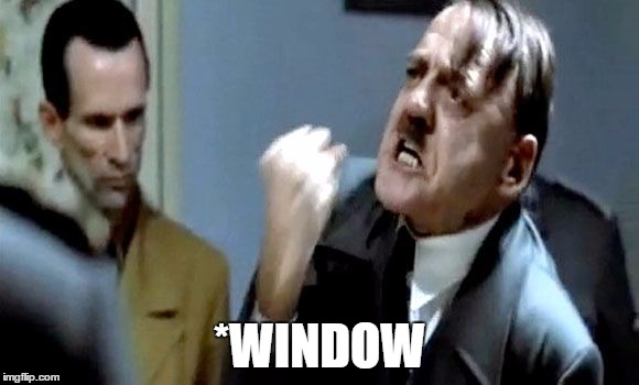 Hitler's Rant | *WINDOW | image tagged in hitler's rant | made w/ Imgflip meme maker