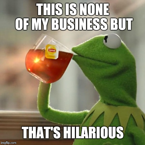 But Thats None Of My Business Meme | THIS IS NONE OF MY BUSINESS BUT THAT'S HILARIOUS | image tagged in memes,but thats none of my business,kermit the frog | made w/ Imgflip meme maker